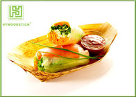 Unique Wooden Serving Trays Pine Wood Disposable Food Containers For Salad