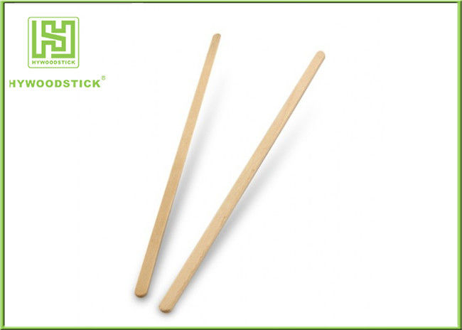 Eco - Friendly Cocktail Stir Sticks , Birch Wood Sugar Swizzle Sticks For Coffee
