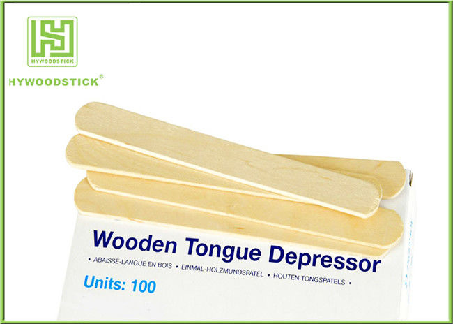 Sanitary Wrapped Padded Tongue Depressors Bulk CE Approved Round Edge