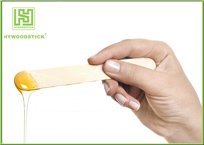Portable Wooden Waxing Spatulas Hair Removal Stick Environmentally Friendly