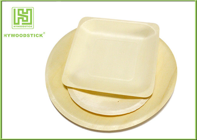 High End Disposable Wooden Plates Camping Dinnerware Sets Smooth Surface